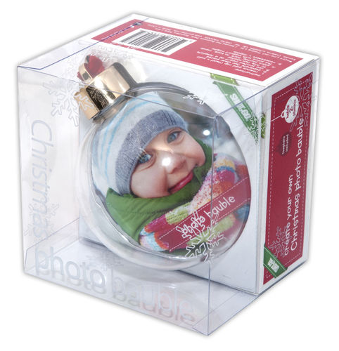 Single Photo Bauble -Large