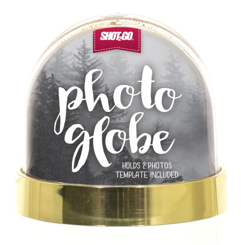 SHOT2GO Snowglobe Metalic Gold